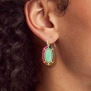 Kendra Scott Threaded Elle Gold Drop Earrings
